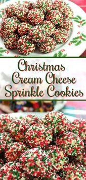 Las galletas navideñas de queso crema espolvoreadas son tiernas por dentro y crujientes por …   – Sweets