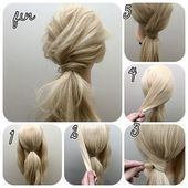 Sweet hairstyle to go out … hair tutorial
