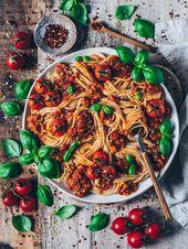 Espaguete vegano à bolonhesa   – Meine Rezepte – Bianca Zapatka