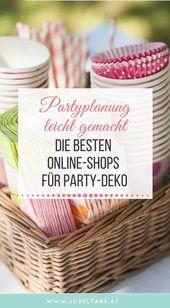 Die besten Online-Shops für stilvolle Party-Dekoration