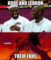 RT @NBAMemes: Kobe-Fans vs. LeBron-Fans – nbafunnymeme.com / …   – LMAO