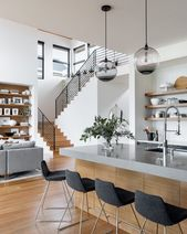 """Audrey Crisp on Instagram: """"What a rad space! I love the modern railing and the kitchen design! By: @courtneynye 📷: @haris.kenjar"""""""