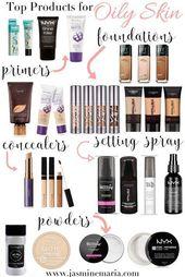Top-Make-up-Produkte für fettige Haut – #Fett # für #Fell #Make-up #Fett #Produkte #Top   – Produkte für fettige Haut
