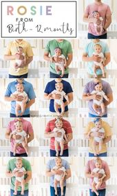 Monthly Baby Picture Ideas – Tips to photograph your baby – Monthly baby photos