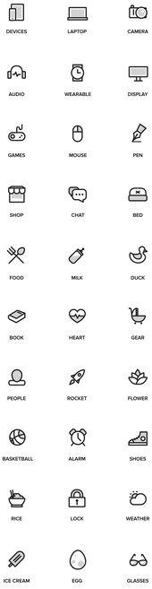 Random Stuff Free Iconset A set of 30 free outline…