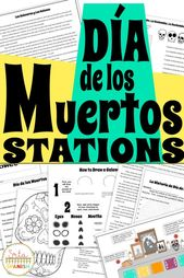 Want an concept for Día de los Muertos to your classroom? This station set includ…