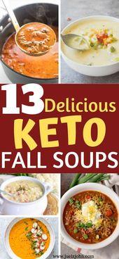 13 köstliche Ketofallsuppen. Genießen Sie herzhafte Ketosuppenrezepte, die die ganze Familie …