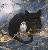 Opposites Canvas Print / Canvas Art by Helena Nelson-Reed – Katzen Gifs und Videos