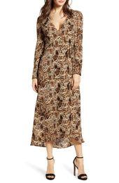 39++ Chelsea28 velvet faux wrap midi dress trends
