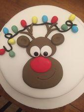 Pastel De Navidad De Reno   – Kuchen Bilder