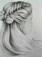 Oversized Fishtail Braided Braid Hairstyle Drawing Abella Braids # Braidedhairs …, …