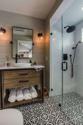 25+ Unglaublich stilvolle Schwarz-Weiß-Badezimmer Ideen zu begeistern