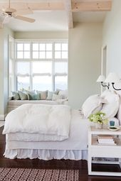 Of course, this is lovely and I want to go to there.  But the # of pillows on th…   – Home Decor