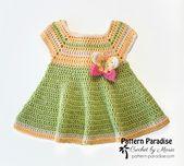 Crochet Pattern for Baby Girl Dress Butterfly Kisses Baby   Etsy