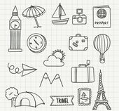 16 models of hand-painted icon vector material Tra…