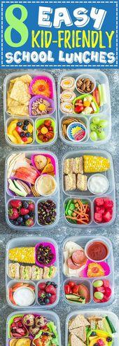 8 leichte, gesunde und köstliche Mittagessen für den Schulanfang. Mit jeder Menge Ideen …   – Mabes' School Ideas