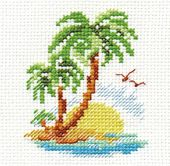Landscapes and Seascapes Counted Cross Stitch Pattern Hawaii Big Island Pattern Only, You Provide The Floss and Fabric