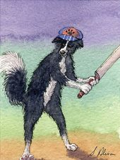 Border Collie Dog Orig Aceo Painting Sheepdog By Susan Alison