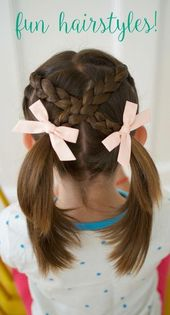 Very simple hairstyles for girls: from toddlers to school age Click here for a step