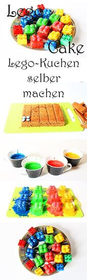 Legotorte mit Brownies und Smarties (Rezept + Video)   – ♥ Kochen für Kinder und mit Kindern ♥