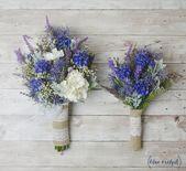 Wildflower Bouquet, Lavendel Bouquet, Brautstrauß, rustikale Bouquet, Woodland Hochzeitsstrauß, Kornblume, Blue Bouquet, Hochzeitsblumen   – kwiaty na wesele