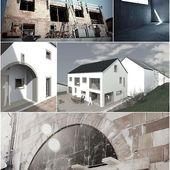 Moderner Anbau am historischen Bauernhof: große Fensterflächen im Kontext von …   – anbau