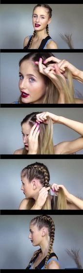 New Braids Two Pony Tails Kids Ideas