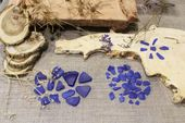 Genuine Blue Sea Glass, Blue Beach Glass Pieces, Cobalt Blue, Rare Glass Bulk, Jewelry, Art, Craft, Wedding Home Decor, Frosted Tide Tumbled