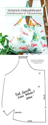 Sewing instructions and sewing pattern: Heinrich shopping bag Heinrich shopping bag – step-by-step sewing instructions and free sewing pattern …