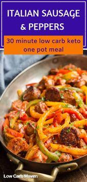 Italienische Wurst, Paprika und Zwiebeln   – LOW CARB MAVEN