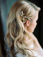 26 accessorize your waves with a sparkling rhinestone headpiece – Weddingomania