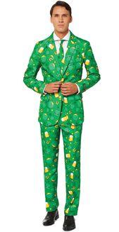 Green and Yellow Saint Patricks Icon Suit Men Adult Christmas Costume – Medium – 33794290