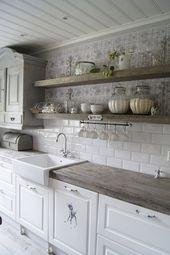 55+ Amazing Farmhouse Kitchen Backsplash Decor Ideas