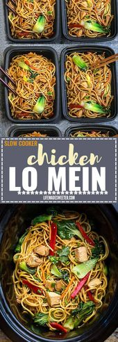 Slow Cooker Chicken Lo Mein + Crock-Pot + meal prep + recipe VIDEO