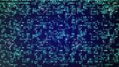 Abstract Blue Technology Background. Binary Computer Code. Programming..
