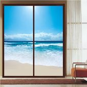 CHOIS  I32 Custom Film Window Decals DIY  Flying Back To Home Island  Frosted Privacy Home Decor Static Adhesive Cling Film Decal Sticker