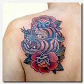 #tigertattoo #tattoo tattoos mit namen und designs, wasser und feuer tattoo, rose …