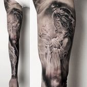 Tattoo removal balm?   Black and grey fantasy #fantasy #blackandwhite #blackandw…