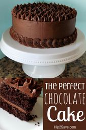 Easy Chocolate Cake From Scratch #YUM #chocolatecake – chocolate cake