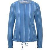 Tom Tailor Denim Dames gestreept shirt met lange mouwen met trekkoord, blauw, gestreept, …   – Products