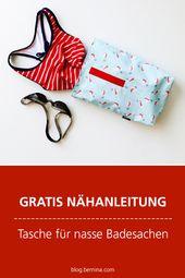Kostenlose Nähanleitung: Tasche für nasse Badesachen