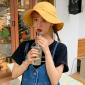 Ht2363 antiuv women summer sun hat ladies packable wide brim panama hat fishing fisherman cap solid round top bucket hat – Products