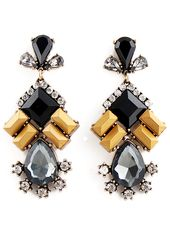 Black Yellow Gemstone Gold Diamond Earrings EUR€…