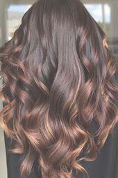Schokoladenbraunes Haar mit Highlights #brunette #highlights ❤ Hervorgehobenes Haar …