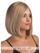 Wie Echthaar! Damen Hellbraun Perücke Mode Urban Style Kurz BOBO Perücke Wig S56#Hellbraun#cke#Mode