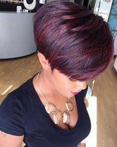 Charmante kurze Haarfarbe Ideen  – Frisuren