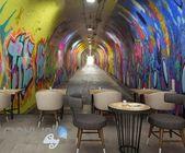 3D Graffiti Tunnel Buniess Office Wall Murals Wallpaper Wall Art Decals Prints IDCWP-TY-000151  – interior