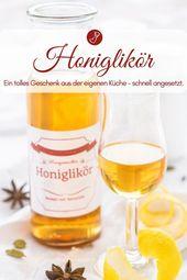 Honiglikör – Likör Rezept und Etiketten zum Download