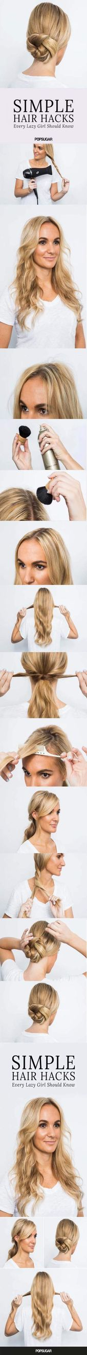 Hair ideas easy lazy girl bobby pins 39+ Ideas for 2019