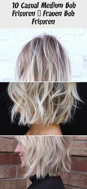 10 Casual Medium Bob Hairstyles – Women Bob Hairstyles